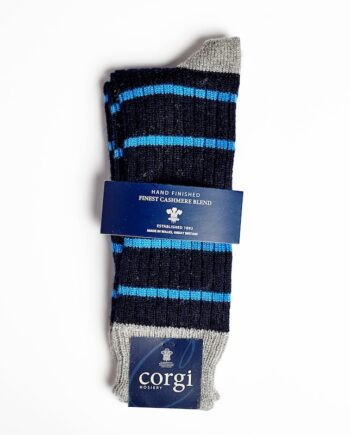 Corgi - Cashmere and Cotton Blended Navy